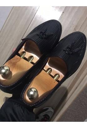 Ginnex Hasır Tarz Ayakkabı - Siyah