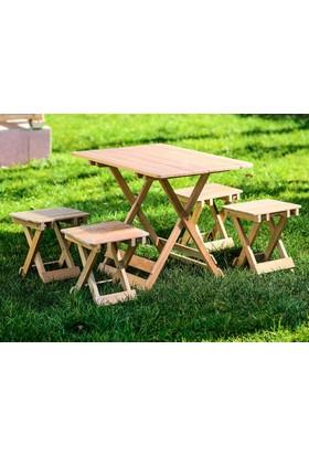 Pegai Katlanır Piknik Masası Ve Tabure Bahçe Takımı