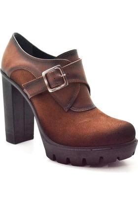 Sanita Platform Topuk Taba Kadın Ayakkabı