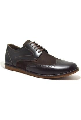 Tardelli® Hakiki Deri Büyük Numara Kahverengi Erkek Ayakkabı