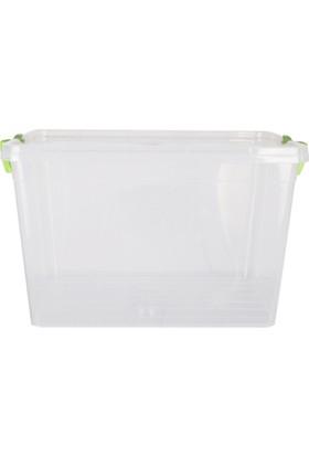 Loveq Şeffaf Plastik Saklama Kabı 30 Lt 31X45X29 Cm Drn-29445
