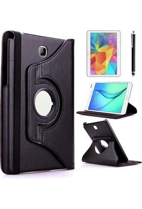 Kea Samsung Galaxy Tab S2 Sm-T715 8.0 360° Dönebilen Standlı Siyah Kılıf + Ekran Koruyucu Film + Tablet Kalemi