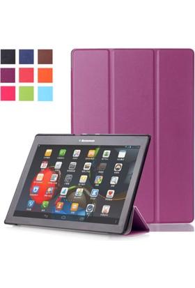 "Kea Samsung Galaxy Tab A 9,7 Sm-T550 9.7"" Smart Case Mor Kılıf + Ekran Koruyucu Film + Tablet Kalemi"