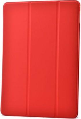 Kea Apple iPad Mini 2 Smart Case Kırmızı Kılıf + Ekran Koruyucu Film + Tablet Kalemi