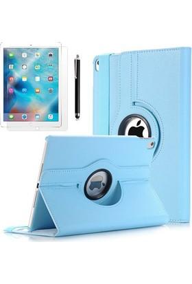 Kea Apple iPad Pro 9.7 360° Dönebilen Standlı Mavi Kılıf + Ekran Koruyucu Film + Tablet Kalemi