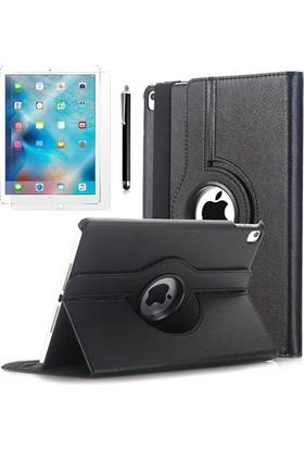 Kea Apple iPad Pro 9.7 360° Dönebilen Standlı Siyah Kılıf + Ekran Koruyucu Film + Tablet Kalemi