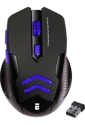 Everest SM-763 Mavi 6D 2400 DPI 2.4GHz Aydınlatmalı Oyuncu Kablosuz Mouse