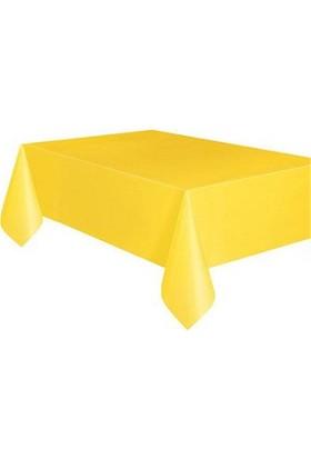 Partypark Plastik Masa Örtüsü Sarı