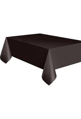 Partypark Plastik Masa Örtüsü Siyah