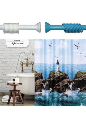 Beytug Light Duş,Banyo Perdesi 180x200 Banyo Askısı Hediye