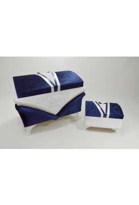 Çeyizci Damat Modelli Nişan Ve Sandık Sandık Seti Lacivert