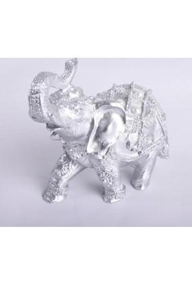 Ubi Home Dekoratif Gümüş 7'li Polyester Fil Taşlı