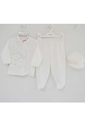 Miniworld 13585 3'lü Patikli Bebek Takımı