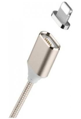 Moızen iphone İçin Şarj Kablosu Moizen M2 Manyetik Adaptörü Veri - Tyrant Altın 1 Metre
