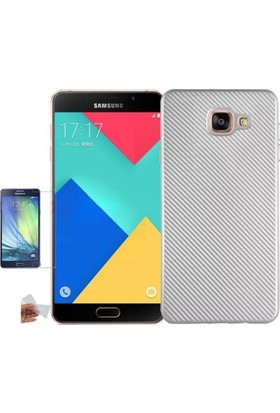Teleplus Samsung Galaxy A5 2016 Karbon Silikon Kılıf + Cam Ekran Koruyucu