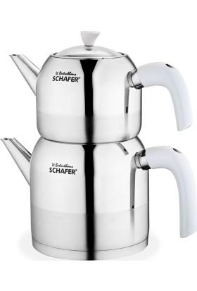 Schafer Çaydanlık Seti Shf770-B-Beyaz
