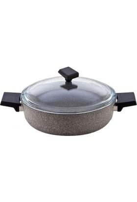 Falez Grey Granit 28 Cm Kısa Tencere Gre-3005