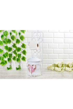 Ahzeli dekoratif Havluluk Tuvalet Kağıtlığı Banyo Seti Wc Kağıtlık Çöp Kovası