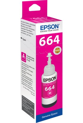 Epson T6643 L100/L200 70ml Kırmızı Mürekkep