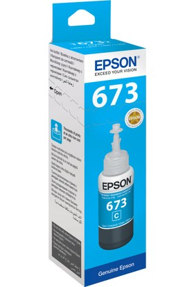 Epson T6732 L800 70ml Mavi Mürekkep Kartuş