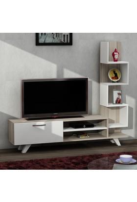 Dekorister Ceren Tv Ünitesi Beyaz/Cordoba