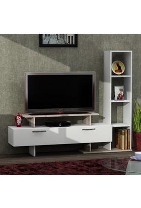 Dekorister Minel Tv Ünitesi Beyaz/Cordoba