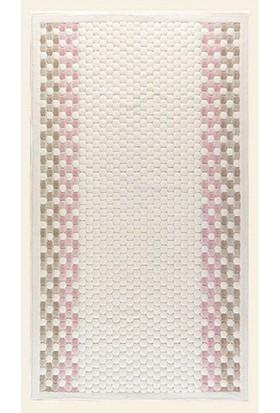 Maco Cotton İnci Pamuklu 2 Li Paspas Takımı Pembe-Bej