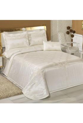 İlayda Çeyiz Setenay Yatak Örtüsü Kreme Krem