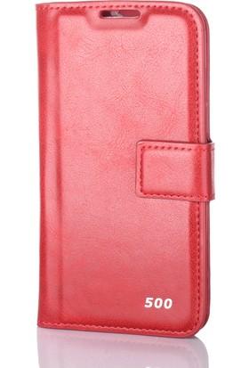 Gpack Htc Desire 500 Kılıf Standlı Parlak Cüzdan