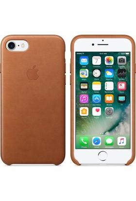 Apple iPhone 7 / 8 Deri Kılıf Kahverengi - MMY62ZM/A (İthalatçı Garantili)