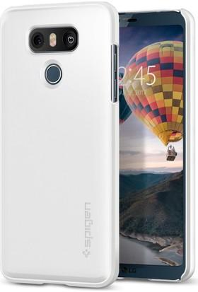 Spigen LG G6 Kılıf Thin Fit Shimmery White - A21CS21232