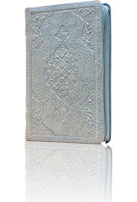 Hayrat Kuran-I Kerim Çanta Boy (Mavi Renk, Kılıflı, Mühürlü)