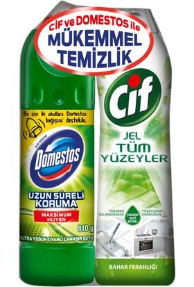 Domestos 810 ml + Cif tüm yüzeyler 750 ml