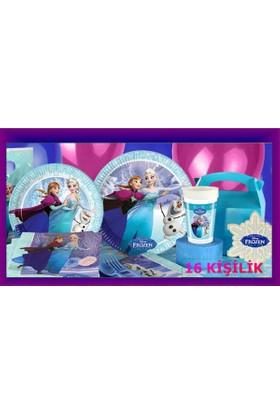 Disney Frozen Elsa Karlar Ülkesi Doğum Günü Parti Seti 16 Kişilik