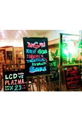 Projeneon Yaz Sil Led Neon Tabela 40 x 60 Cm 4 Kalemli