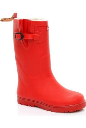 Aigle Woodypop Fur Çocuk Kırmızı Yağmur Çizmesi 242883