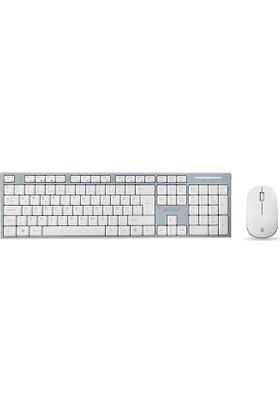 Everest KM-6063 Beyaz / Gri Kablosuz Multimedia Klavye + Mouse Set