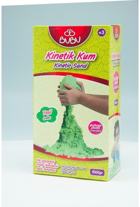 Bu-Bu Kinetik Kum 1000 Gr. Yeşil