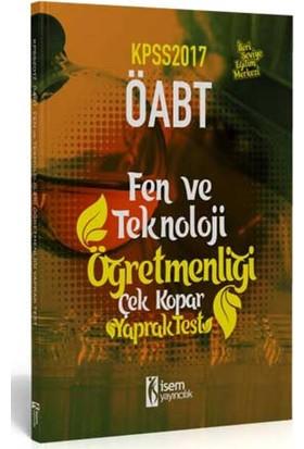 İsem Yayıncılık Öabt 2017 Fen Ve Teknoloji Öğretmenliği Çek Kopar Yaprak Test