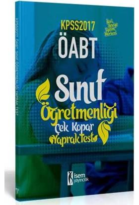 İsem Yayıncılık Öabt 2017 Sınıf Öğretmenliği Çek Kopar Yaprak Test