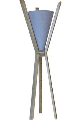 Adalinhome Ahşap Tripot Ayakli Dekoratif Köşe Lambası