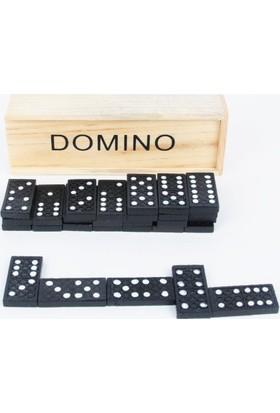 50bir Ahşap Kutulu Domino Seti
