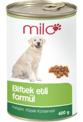 Milo Biftekli Köpek Konservesi 400 gr - 24'lü