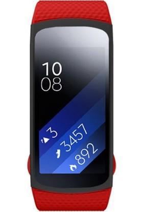 Case 4U Samsung Gear Fit 2 Silikon Kordon Kırmızı (Normal Beden)