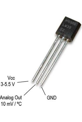 LM35 Hassas Sıcaklık Sensörü