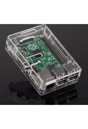 Raspberry Pi Raspberry Pi 3/2/B+ Şeffaf Muhafaza Kutusu - Pi 3/2/B+ Kutusu