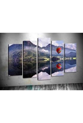 Caddeko Pl44 Göl Manzara Kanvas Tablo 70 x 100 cm