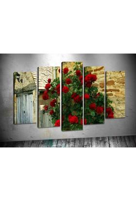 Caddeko Pl54 Kırmızı Güller Kanvas Tablo 70 x 100 cm