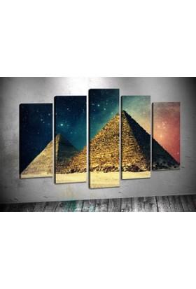 Caddeko Rpt27 Piramitler Mısır Kanvas Tablo 70 x 100 cm