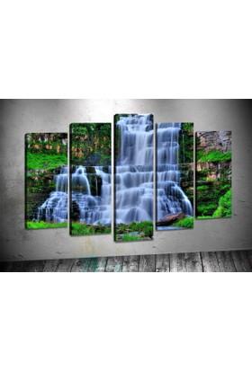 Caddeko Rpt81 Büyük Şelale Kanvas Tablo 70 x 100 cm